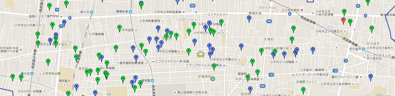 小平市の新築一戸建&土地MAP
